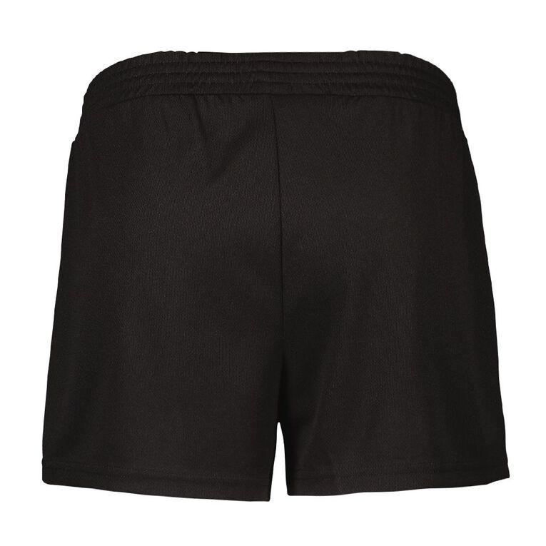 Active Intent Women's Eyelet Shorts, Black, hi-res