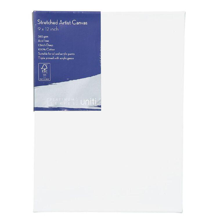 Uniti Platinum Canvas 9x12 Inches 380Gsm, , hi-res