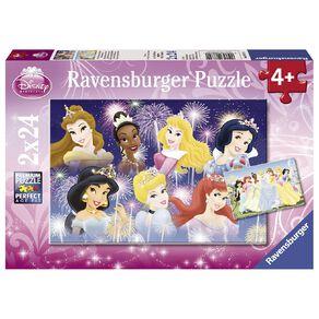 Ravensburger Disney Princesses Gathering Puzzle 2x24 Piece Puzzle