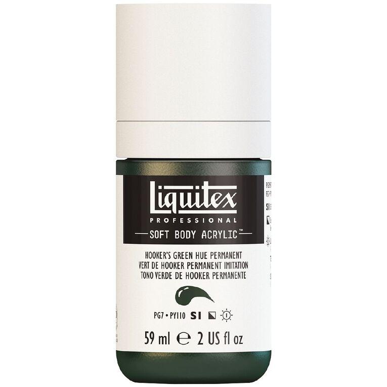 Liquitex Soft Body Acrylic 59ml Hookers Green Hue S1, , hi-res