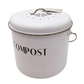 Living & Co Compost Bin White