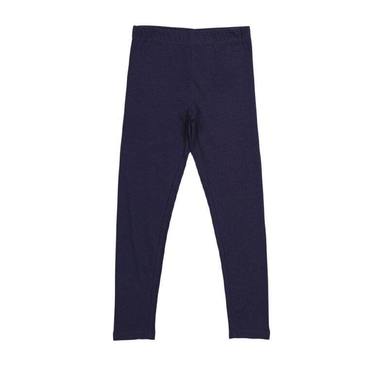 Young Original Girls' Plain Coloured Leggings, Blue Dark, hi-res