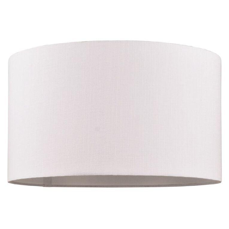 Living & Co Barrel Lamp Shade White, , hi-res