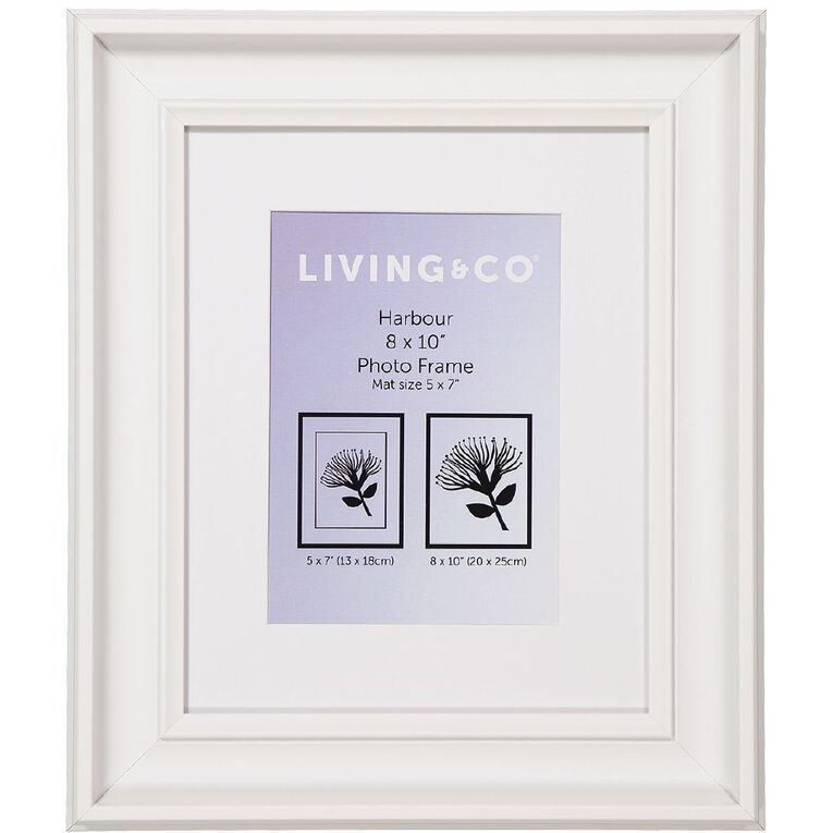 Living & Co Harbour Frame White 8in x 10in, , hi-res image number null