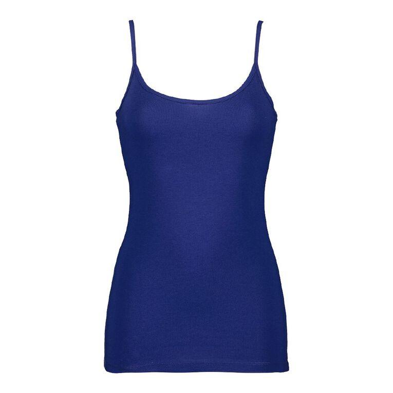 H&H Women's Light Under Singlet, Blue Dark CYRPUS, hi-res