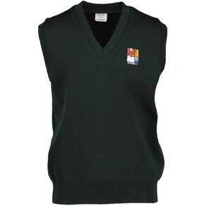 Schooltex Menzies College Wool Vest with Embroidery