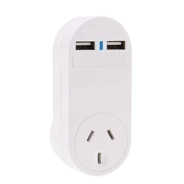 Edapt Single Adapter With 2.1A USB White, , hi-res
