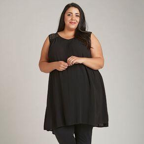 H&H Plus Women's Lace Insert Tunic