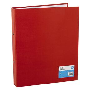 WS Ring Binder PVC Red A4