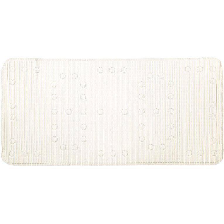 Living & Co Bath Mat Anti Bacterial White 43cm x 90cm, White, hi-res image number null