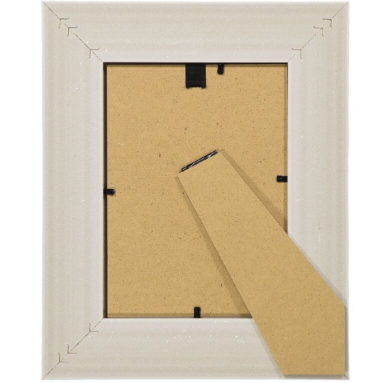 Living & Co Harbour Frame White 5in x 7in, White, hi-res