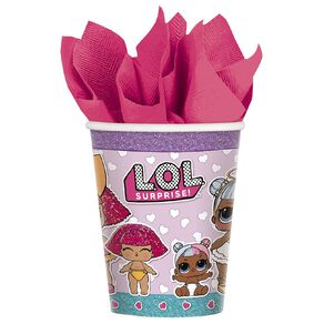 LOL Surprise Paper Cups 266ml 8 Pack