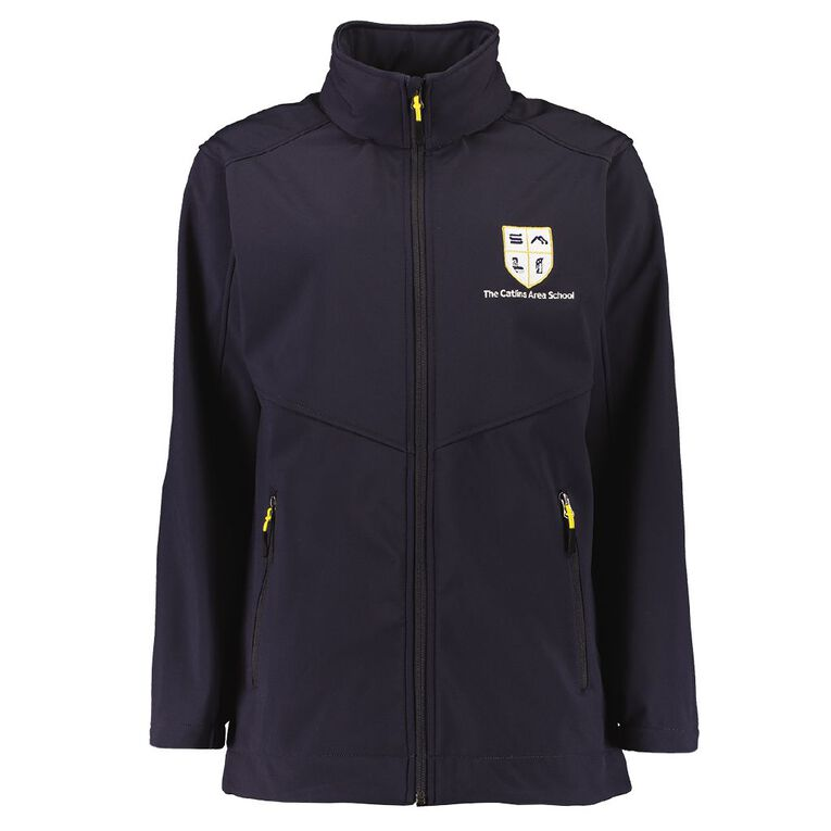 Schooltex Catlins Area School Softshell Jacket with Embroidery, Navy, hi-res