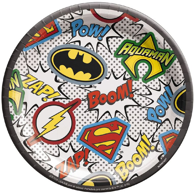 Justice League Heroes Unite Plates 17.7cm 8 Pack, , hi-res image number null