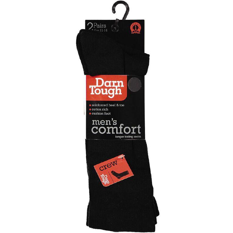 Darn Tough Men's Cushion Crew Socks 2 Pack, Black, hi-res