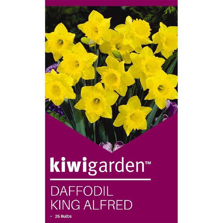Kiwi Garden Daffodil King Alfred 25PK, , hi-res