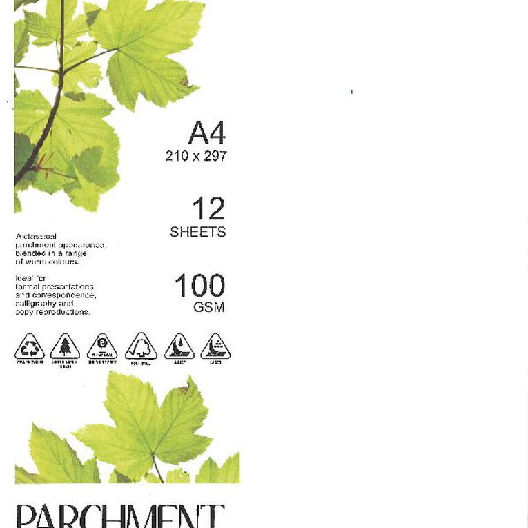 Direct Paper Parchment Paper 100gsm 12 Pack Nova White A4, , hi-res image number null