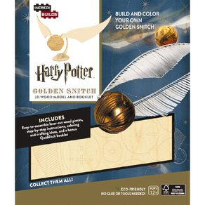 Harry Potter Incredibuilds Golden Snitch 3D Wooden Model