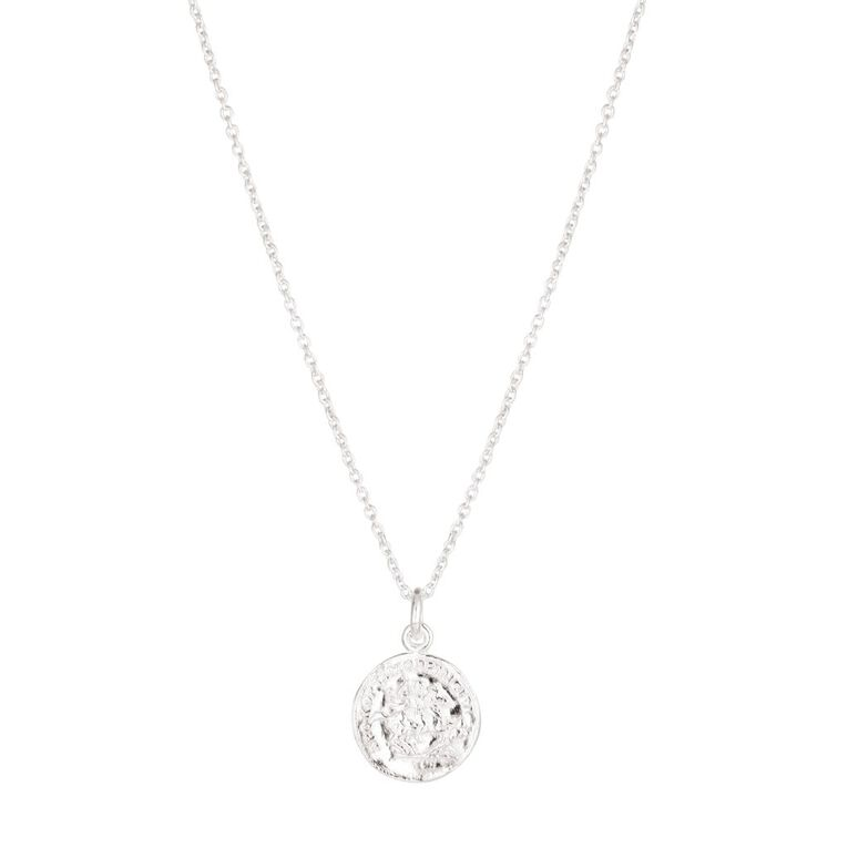 Sterling Silver Coin Necklace, , hi-res
