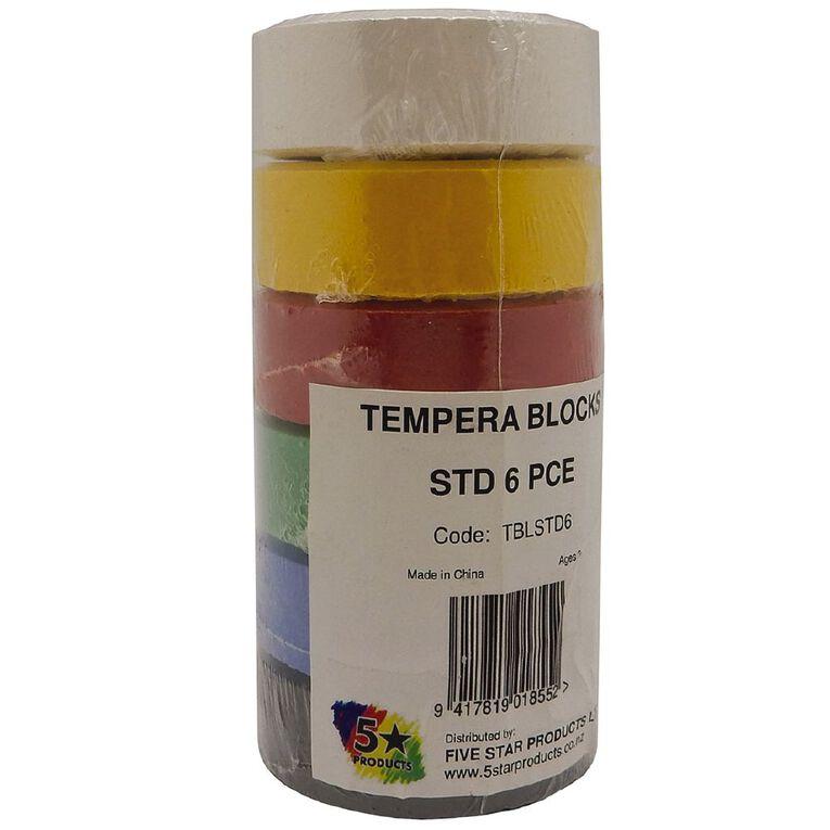 Fivestar Tempera Block Standard Colours set of 6, , hi-res