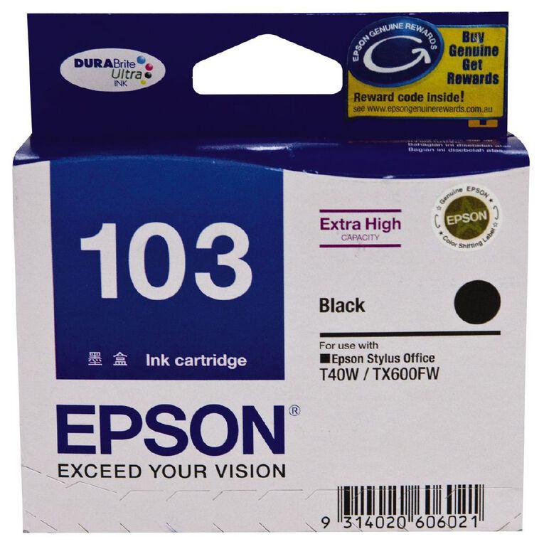 Epson Ink T103 Black (1035 Pages), , hi-res