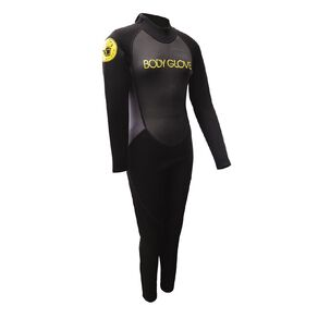 Body Glove Youths Full Suit Size 16 Black/Yellow Size 16