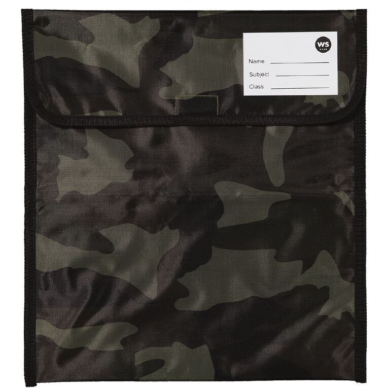 WS Book Bag Zipper Pocket 36cm x 33cm Camo, , hi-res