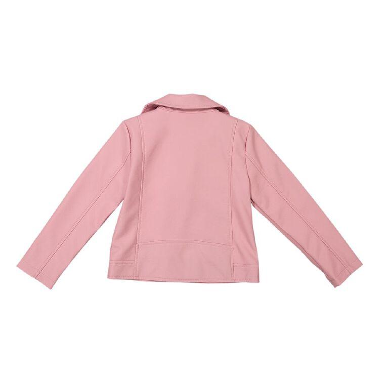 Young Original PU Moto Jacket, Pink Light, hi-res