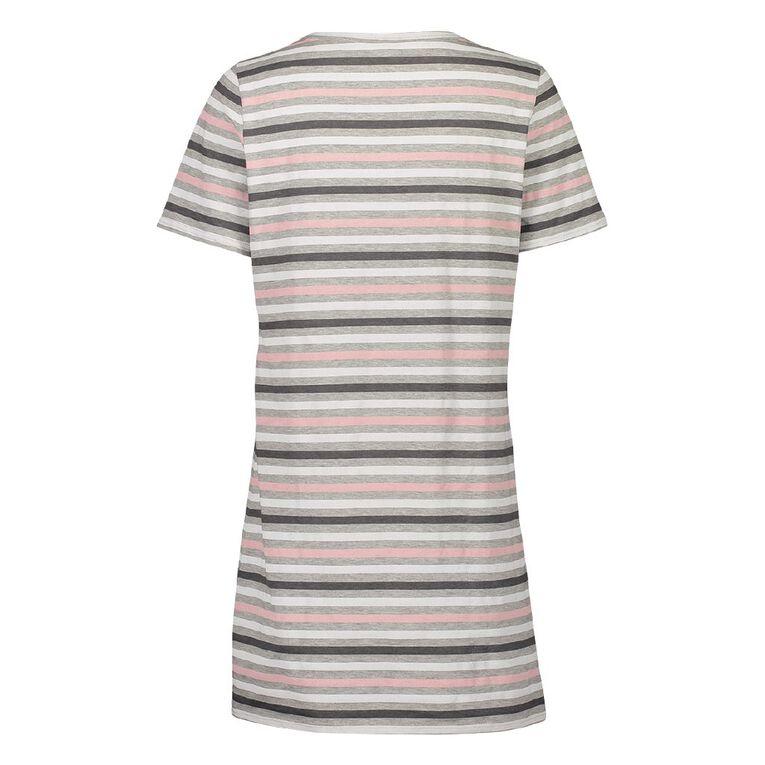 H&H Women's Short Sleeve Nightie, Grey, hi-res