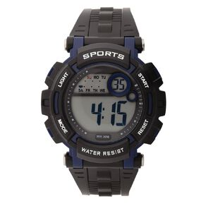 Active Intent Sports Digital Watch Silicone Strap Black & Navy
