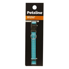 Petzone Dog Reflective Collar Aqua Small