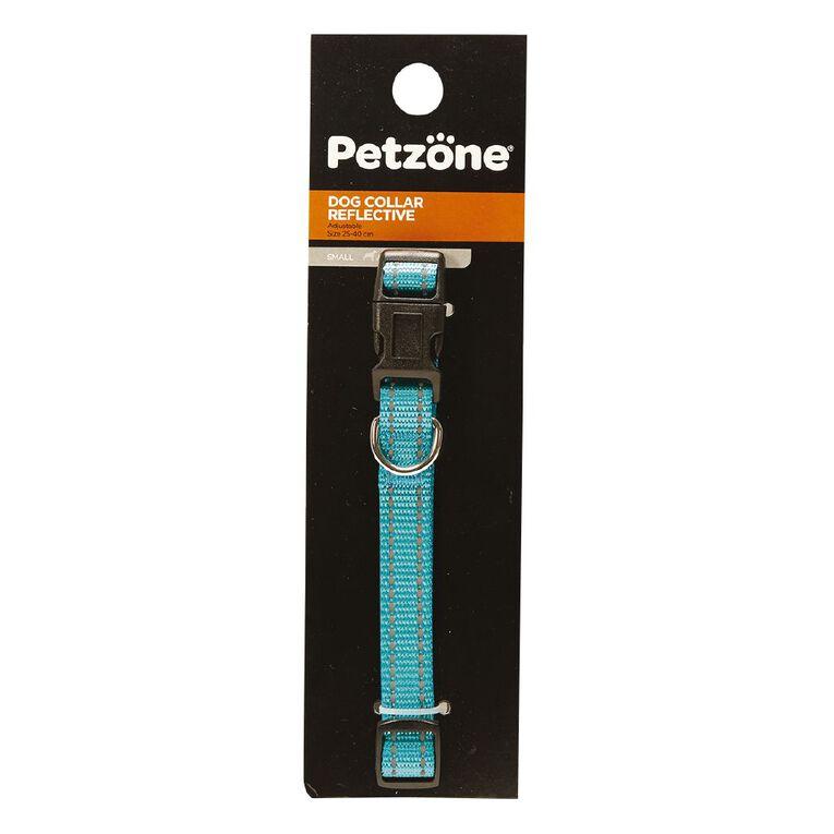 Petzone Dog Reflective Collar Aqua Small, , hi-res