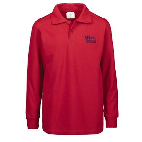 Schooltex Milson Long Sleeve Polo with Embroidery