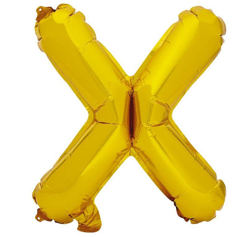 Artwrap Foil Balloon X Gold 35cm, , hi-res