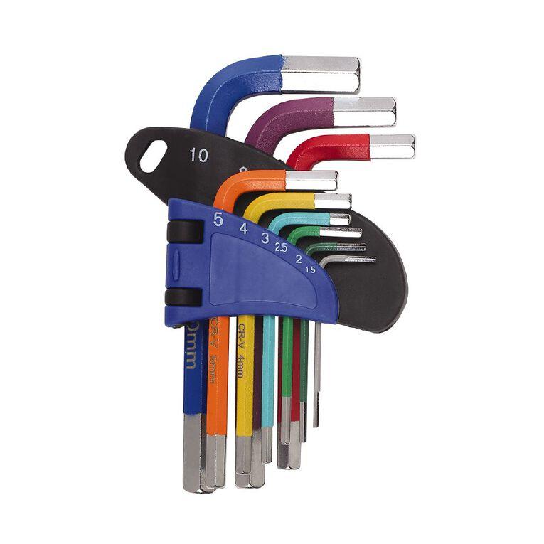 Mako 9 Piece Colorful Short Hex Key Set, , hi-res
