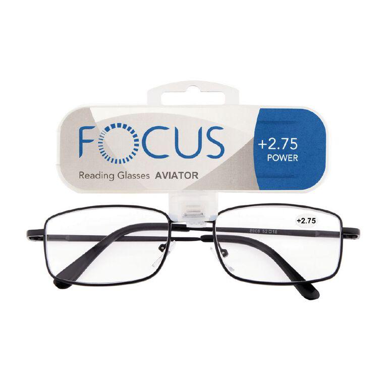 Focus Reading Glasses Aviator Power 2.75, , hi-res
