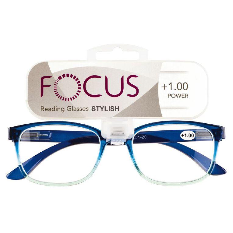 Focus Reading Glasses Stylish Power 1.00, , hi-res