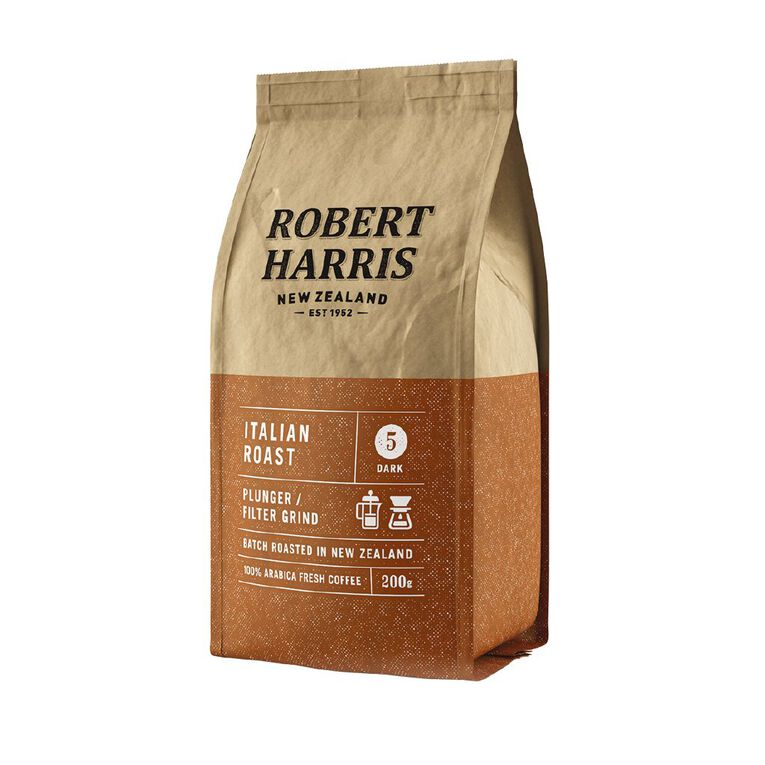 Robert Harris Italian Roast Plunger/Filter 200g, , hi-res