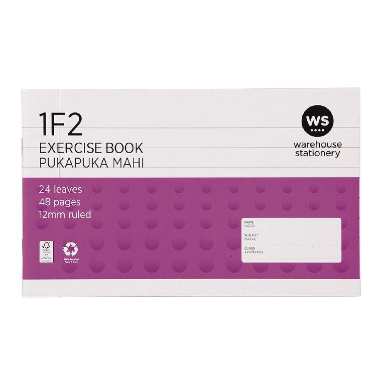 WS Exercise Book 1F2 12mm 24 Leaf Purple, , hi-res