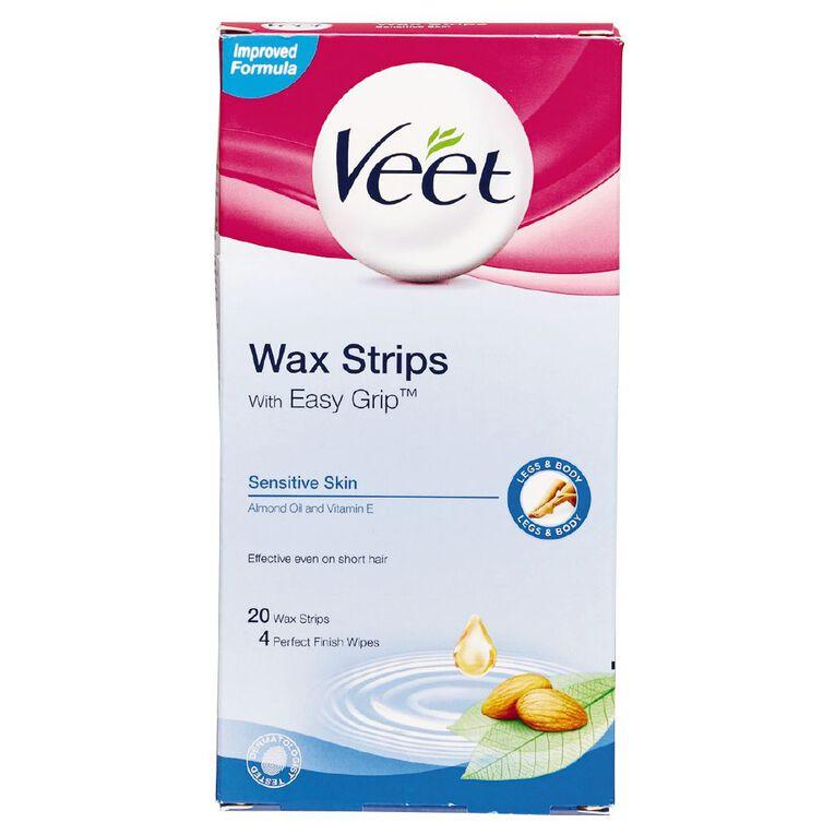 Veet Wax Strips Sensitive Legs 20 Strips, , hi-res