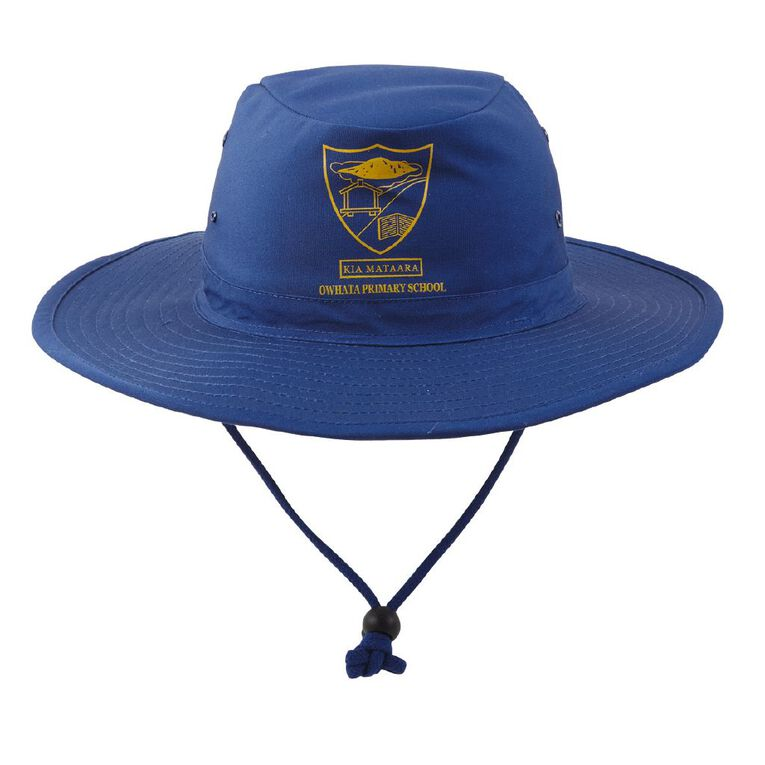 Schooltex Owhata Aussie Hat with Transfer, Royal, hi-res