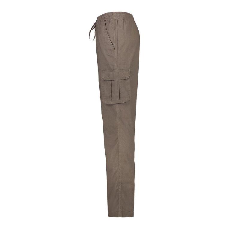 H&H Men's Elastic Waist Cargo Pants, Taupe, hi-res