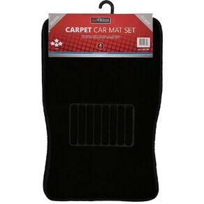 Wildcat Carpet Car Mat Set 4 Pack