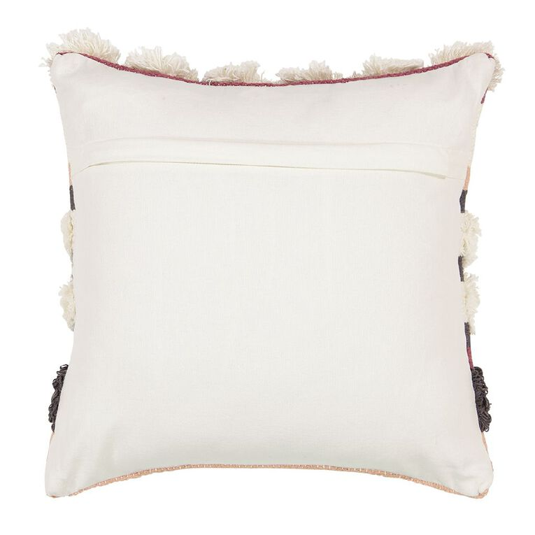 Living & Co Luxe Tufted Circle Cushion Pink/Grey 45cm x 45cm, Pink/Grey, hi-res