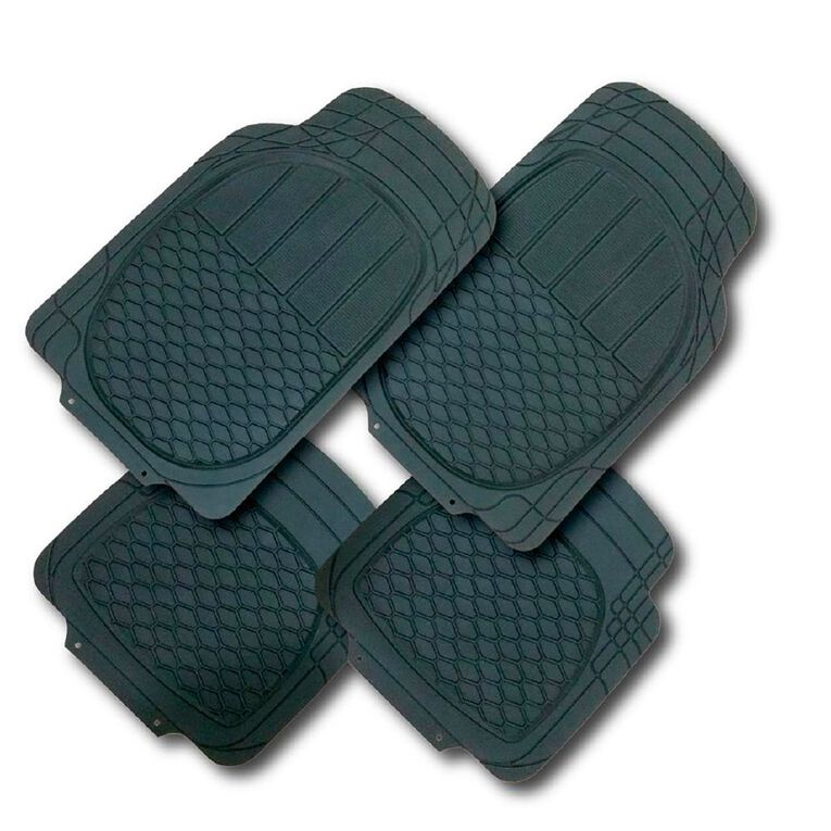 Mako Rubber Car Mat Set Black 4 Pack, , hi-res