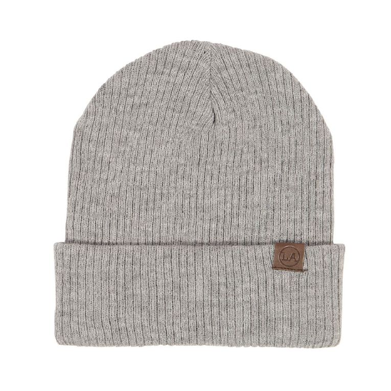 H&H Men's Ribbed Slouch Beanie, Grey Marle, hi-res