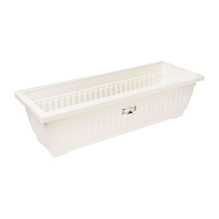 Baba Plastic Trough 509 48 x 18cm White, , hi-res