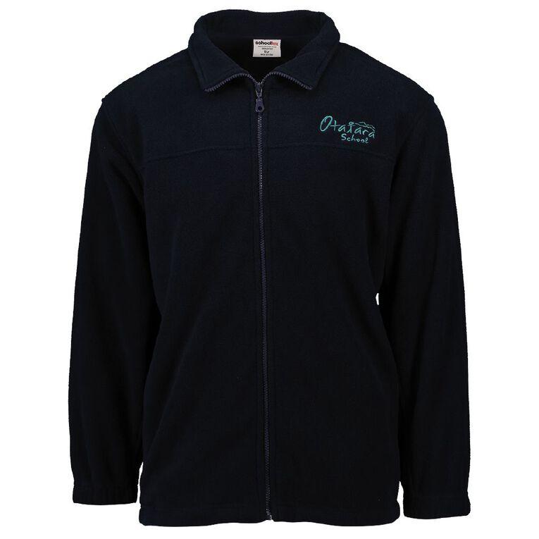 Schooltex Otatara Polar Fleece Jacket with Embroidery, Navy, hi-res