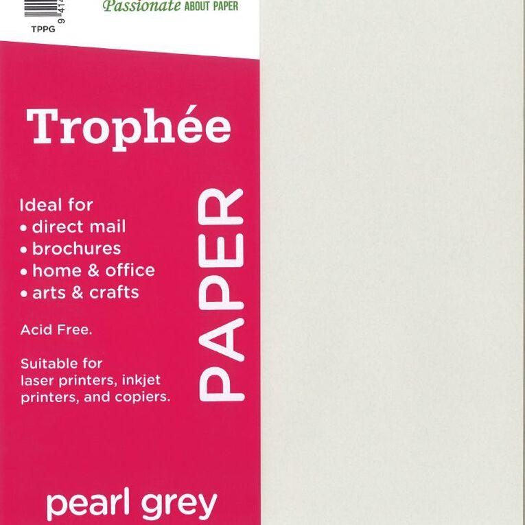Trophee Paper 80gsm 30 Pack Peral Grey A4, , hi-res