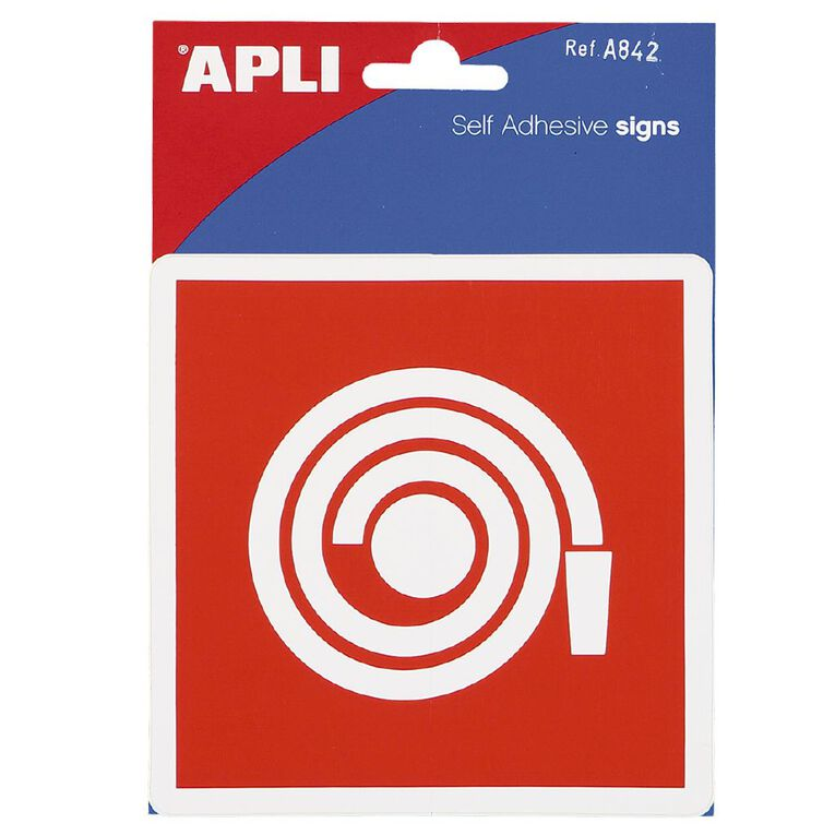 APLI Self Adhesive Sign Fire Extinguisher, , hi-res